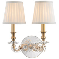 Hudson Valley 1292-AGB Lapeer 2 Light 12 inch Aged Brass Wall Sconce Wall Light