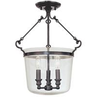 Hudson Valley 130-OB Quinton 3 Light 14 inch Old Bronze Semi Flush Ceiling Light