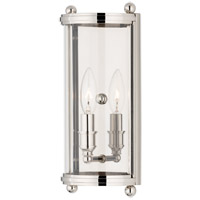 Hudson Valley Lighting Mansfield 1 Light Wall Sconce in Polished Nickel 1301-PN