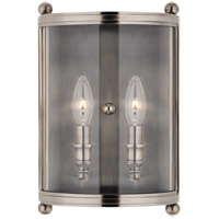 Mansfield 2 Light 9 inch Antique Nickel Wall Sconce Wall Light