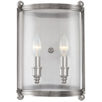 Mansfield 2 Light 9 inch Polished Nickel Wall Sconce Wall Light