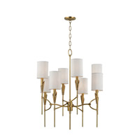 Hudson Valley Lighting Tate 8 Light Chandelier in Aged Brass 1304-AGB