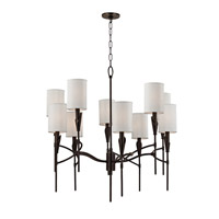 Tate 10 Light 32 inch Old Bronze Chandelier Ceiling Light