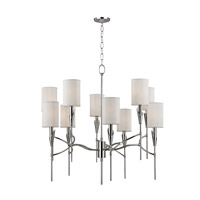 Hudson Valley Lighting Tate 10 Light Chandelier in Polished Nickel 1305-PN