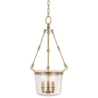 Quinton 3 Light 14 inch Aged Brass Pendant Ceiling Light