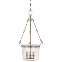Quinton 3 Light 14 inch Historic Nickel Pendant Ceiling Light