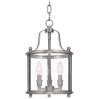 Mansfield 3 Light 10 inch Antique Nickel Pendant Ceiling Light