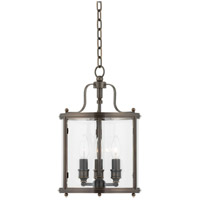 Mansfield 3 Light 10 inch Distressed Bronze Pendant Ceiling Light