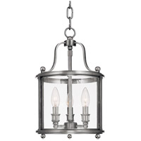 Mansfield 3 Light 10 inch Polished Nickel Pendant Ceiling Light