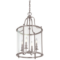 Mansfield 4 Light 15 inch Antique Nickel Pendant Ceiling Light