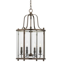 Mansfield 4 Light 15 inch Distressed Bronze Pendant Ceiling Light