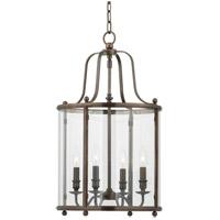 Hudson Valley 1315-DB Mansfield 4 Light 15 inch Distressed Bronze Pendant Ceiling Light