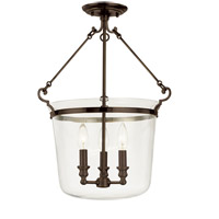 Hudson Valley Lighting Quinton 3 Light Semi Flush in Old Bronze 132-OB
