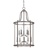 Hudson Valley Lighting Mansfield 10 Light Pendant in Antique Nickel 1320-AN