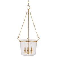 Quinton 3 Light 17 inch Aged Brass Pendant Ceiling Light
