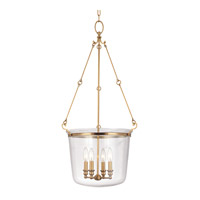 Hudson Valley Lighting Quinton 4 Light Pendant in Aged Brass 134-AGB
