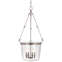 Hudson Valley Lighting Quinton 4 Light Pendant in Historic Nickel 134-HN