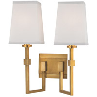 Fletcher 2 Light 14 inch Aged Brass Wall Sconce Wall Light