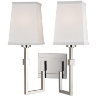Hudson Valley Lighting Fletcher 2 Light Wall Sconce in Polished Nickel 1362-PN