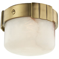 Hudson Valley 1410-AGB Beckett LED 6 inch Aged Brass Flush Mount Ceiling Light