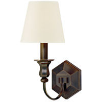 Hudson Valley Lighting Charlotte 1 Light Wall Sconce in Old Bronze with White Faux Silk Shade 1411-OB-WS