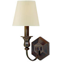 Hudson Valley Lighting Charlotte 1 Light Wall Sconce in Old Bronze with Eco Paper Shade 1411-OB