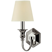 Hudson Valley 1411-PN Charlotte 1 Light 5 inch Polished Nickel Wall Sconce Wall Light in Eco Paper