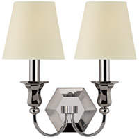 Charlotte 2 Light 13 inch Polished Nickel Wall Sconce Wall Light