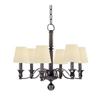 Charlotte 6 Light 27 inch Old Bronze Chandelier Ceiling Light in Eco Paper