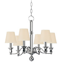 Hudson Valley 1416-PN Charlotte 6 Light 27 inch Polished Nickel Chandelier Ceiling Light in Eco Paper