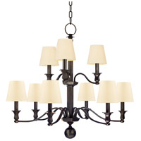 Hudson Valley Lighting Charlotte 9 Light Chandelier in Old Bronze with Eco Paper Shade 1419-OB