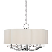 Hudson Valley 1426-PN Garrison 6 Light 26 inch Polished Nickel Chandelier Ceiling Light thumb