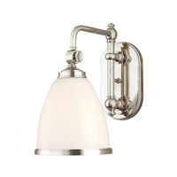Hudson Valley Lighting Somerset 1 Light Wall Sconce in Polished Nickel 1428-PN