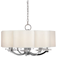 Hudson Valley Lighting Garrison 8 Light Chandelier in Polished Nickel 1432-PN