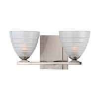Slaton 2 Light 12 inch Satin Nickel Bath Vanity Wall Light