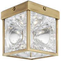 Hudson Valley 1450-AGB Calvin LED 5 inch Aged Brass Flush Mount Ceiling Light