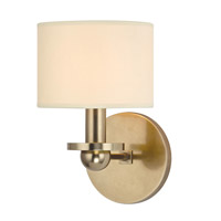 Hudson Valley Lighting Kirkwood 1 Light Wall Sconce in Aged Brass with Eco Paper Shade 1511-AGB