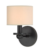 Hudson Valley Lighting Kirkwood 1 Light Wall Sconce in Old Bronze with Eco Paper Shade 1511-OB