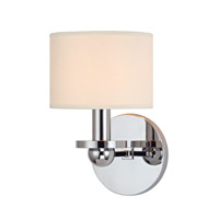 Hudson Valley Lighting Kirkwood 1 Light Wall Sconce in Polished Chrome with Eco Paper Shade 1511-PC