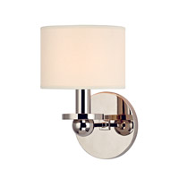 Hudson Valley Lighting Kirkwood 1 Light Wall Sconce in Polished Nickel with Eco Paper Shade 1511-PN
