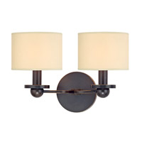 Hudson Valley Lighting Kirkwood 2 Light Wall Sconce in Old Bronze with Eco Paper Shade 1512-OB
