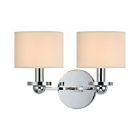 Hudson Valley Lighting Kirkwood 2 Light Wall Sconce in Polished Chrome with Eco Paper Shade 1512-PC