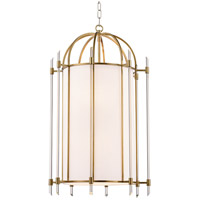 Hudson Valley 1519-AGB Delancey 8 Light 19 inch Aged Brass Pendant Ceiling Light