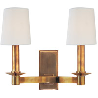 Hudson Valley Lighting Spencer 2 Light Wall Sconce in Aged Brass 152-AGB