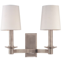 Spencer 2 Light 12 inch Historic Nickel Wall Sconce Wall Light
