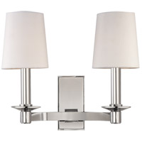 Spencer 2 Light 12 inch Polished Nickel Wall Sconce Wall Light