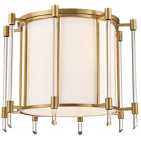 Hudson Valley 1521-AGB Delancey 4 Light 15 inch Aged Brass Semi Flush Ceiling Light