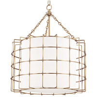 Hudson Valley 1524-AGB Sovereign LED 24 inch Aged Brass Pendant Ceiling Light