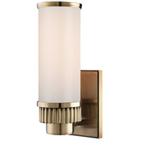 Hudson Valley 1561-AGB Harper 1 Light 5 inch Aged Brass Bath And Vanity Wall Light