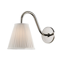Remsen 1 Light 9 inch Polished Nickel Wall Sconce Wall Light in White Faux Silk